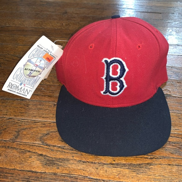 mlb accessories nwt vintage boston red sox fitted hat poshmark